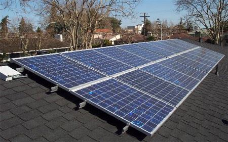 Image of solar panel on rooftop