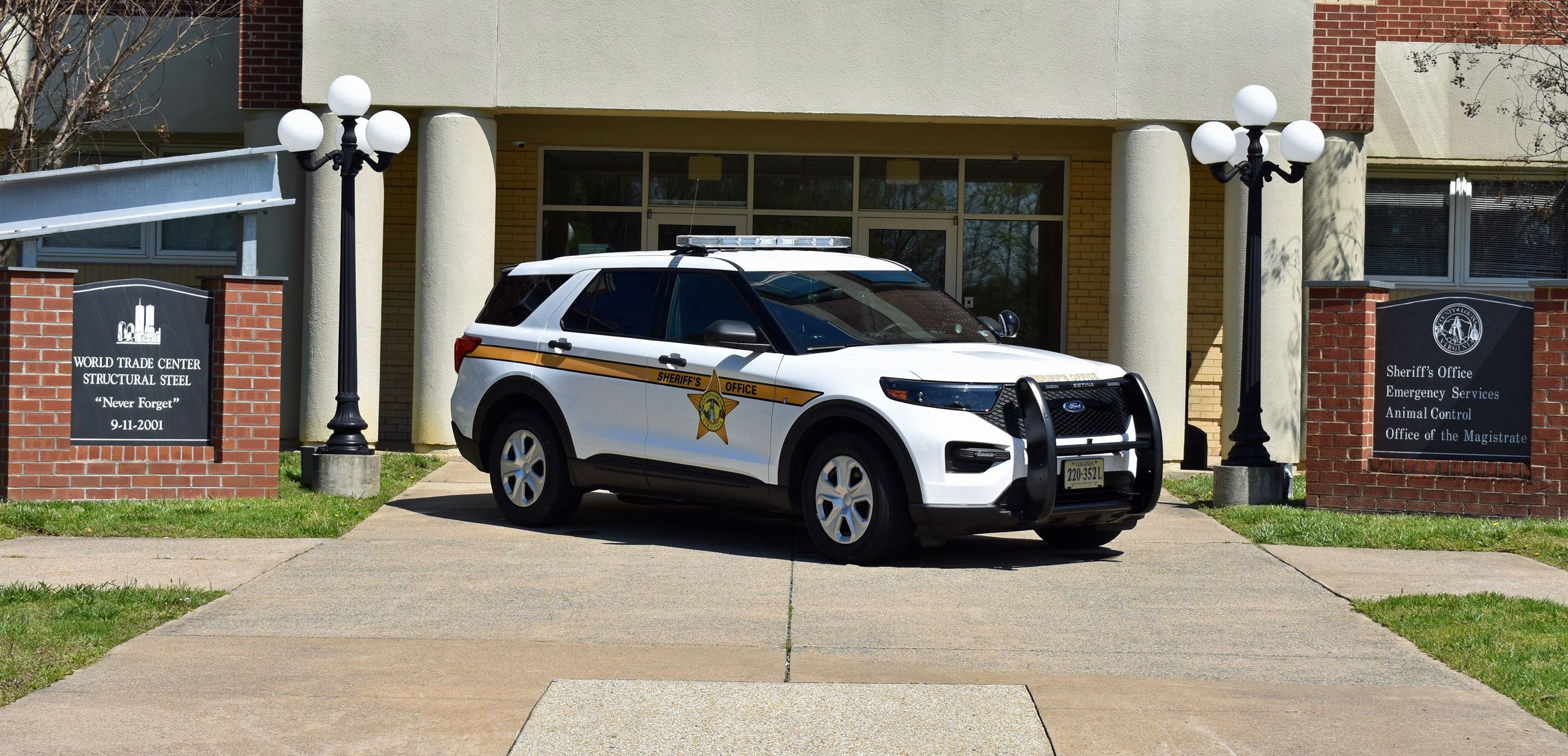 Cruiser in Front of Sheriff's Office